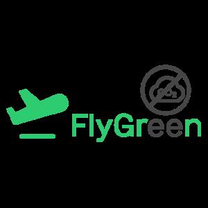 FlyGRN logo - zoekmachine die jouw vlucht gratis CO2 compenseert